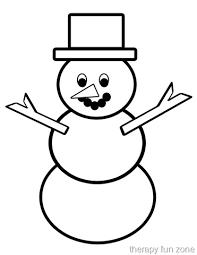 Template Of A Snowman Scissor Cutting Snow Man Template Therapy Fun Zone