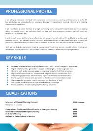Free Edit Nursing Resume Template With Graduate Nurse And Emergency Skills