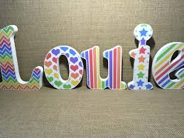 letters for front doorDiy Watercolor Wood Letters From Persia Lou Painted Wooden Letters