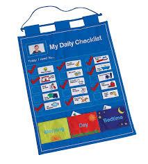 Daily Checklist Chart Amazon Com My Daily Checklist Childrens Fabric Chore