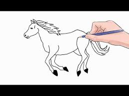 Easy Horses To Draw How A Horse Step By Youtube