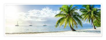 Premium Poster Sommer Sonne Strand Und Meer Im Urlaub In Der Karibik