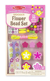 Melissa And Doug Decorate Your Own Jewelry Box Amazon Melissa Doug DecorateYourOwn Wooden Flower Bead 58