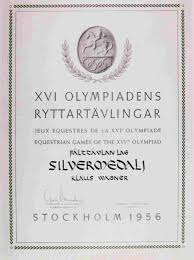 diploma olympic games stockholm diploma olympic games 1956 stockholm