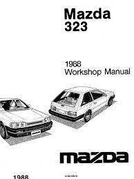 Plete 1988 mazda 323 workshop manual belt mechanical plete 1988 mazda 323 workshop manual belt mechanical