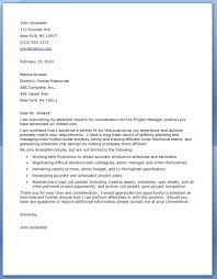 Property Manager Cover Letter Project Manager Cover Letter