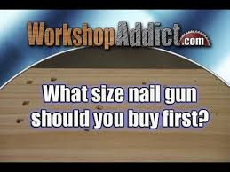 what gauge nailer for woodworking