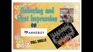 Diamond Painting Unboxing: 5 <b>FULL Drills</b> from AnneBuy - YouTube