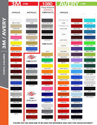 Scotchcal Striping Tape Chart 27 Disclosed Avery Vinyl Color Chart