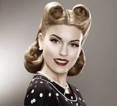 vine retro woman in polka dot dress pin up