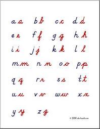 Cursive Letters Alphabet Chart Lowercase Letters