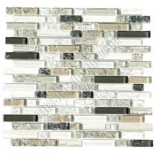 linear glass mosaic tile backsplash mixed up x random slate accent le and marble 5 8 linear glass and stone mosaic