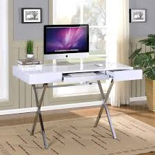 kb furniture contemporary white gloss computer desk