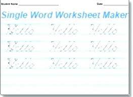 Handwriting Worksheets Maker Preschool Handwriting Worksheet Maker Free Worksheets Library Custom