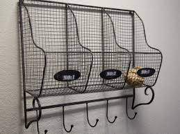 after laundry room detail wire mesh basket organizers with hooks