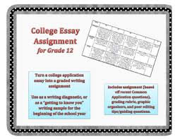college essay assignment rubric writing assignments college  college essay assignment rubric