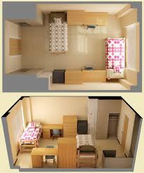 Another idea for the layout of the room. This way, you don't