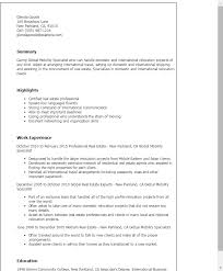 1 Global Mobility Specialist Resume Templates Try Them Now