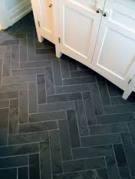 Black Slate Floor Tiles Cutting Marble Tiles Into A Brick Pattern