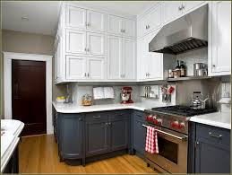 Two Tone Kitchen Cabinets Black And White Cabinet 52236 Home
