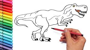 Small Picture Coloring Pages for Kids to learn colors With Dinosaurs And Shark
