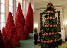 From orange to blood-red: 80 years of White House Christmas trees \u2013 in pictures