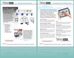 Smart Signs And Designs Versatile Smart Sign Sales Sheet Digital Signage Cloud