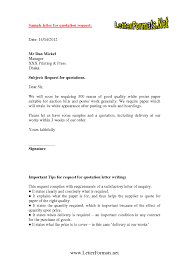 Request For Quote Letter Best Quotes For Cover Letters Letters