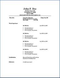 resume simple example basic resume outline sample http www resumecareer info basic