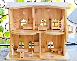 dollhouse lighting. Wooden Dollhouse Lighting Kit Without Furniture Christmas Gift Montessori Waldorf Multi-storey House Eco