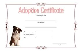 dog birth certificates dog adoption certificate 2 best 10 templates