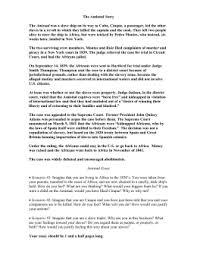 plot summary for amistad  amistad essay
