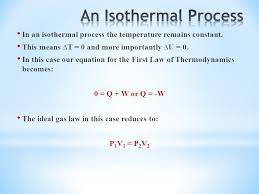 in an isothermal process the temperature remains constant