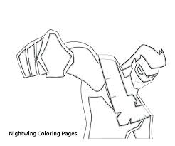 Nightwing Coloring Pages Young Justice Coloring Pages League