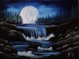 moon river step by step acrylic painting on canvas for beginners acrylic landscape