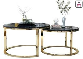 stainless steel coffee table glass