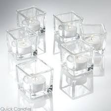 square glass candle holders square tealight candle holder set of glass candle holders whole