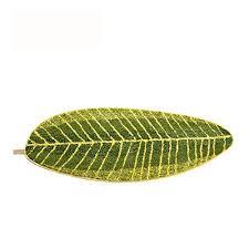 musthome non slip kitchen rugats 17 7 x47 2 cute leaf shape
