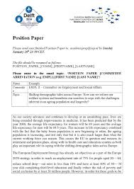 Download as pdf, txt or read online from scribd. Example Position Paper By Eyp The Netherlands Issuu