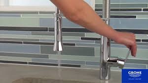 Professional Kitchen Faucet Grohe K7 Semi Professional Kitchen Faucet Youtube