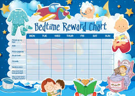 Toddler Sleep Bedtime Reward Chart Bedtime Chart Reward