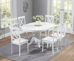 extendable dining table set: furniture middot buy the epsom white pedestal extending dining table set