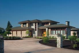 roof contemporary prairie style house plans