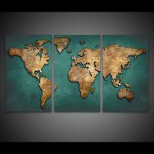 World Map Posters Us 9 05 43 Off Canvas Prints Paintings Wall Art Framework Fashion Vintage Continent Pictures 3 Pieces World Map Posters Living Room Home Decor In
