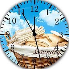 Image Kits Image Unavailable Amazoncom Amazoncom Hiusan Laundry Room Wood Wall Clocks Silent Non Ticking