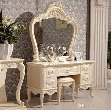 2018 Factory Price Royaleuropean Mirror Table Modern Bedroom Dresser French  Furniture White French Dressing Table P10140 From Tengtank, $562.82 |  Dhgate.Com