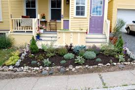 front yard garden ideas. Small Front Yard Landscaping Rustic Modern House Design With Stone Raised Bed And Various Herb Vegetable Garden Plants No Grass Ideas