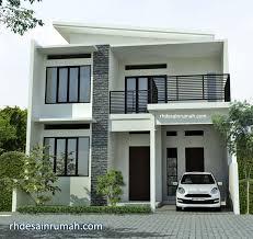 Desain pada atap hanya setengah pelana, hingga bangunan terlihat minimalis tetapi. 4 Inspirasi Desain Rumah Minimalis 2 Lantai Desain Bangunan