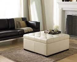 noah storage ottoman cream leather
