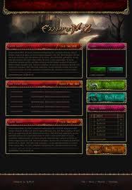 Red Gold Fantasy Web Design Metin2 By X3burn3r Design 5 0